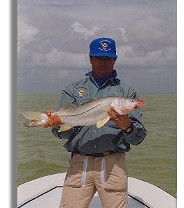 Edward Johnston with a nice Ascension Bay Snook