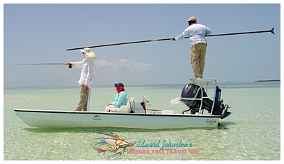 Bonefishing at at Deep Water Cay