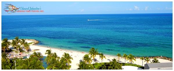 View from the oceanside balcony at the Radisson Resort : Grand Bahama Bonefishing