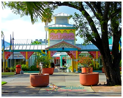 Entrance to the market at Port Lucaya : Grand Bahama Bone Fishing