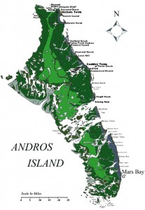 Mars Bay Bonefish Club : Andros Island Map