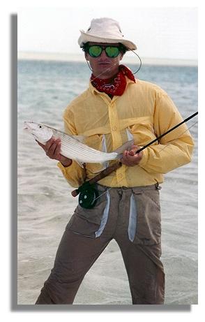 Edward Johnston with a nice bonefish at Stella Maris Inn