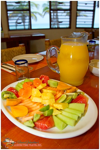 Breakfast at Playa Blanca Lodge