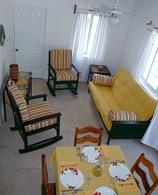 Relaxing Gathering Area of Long Caye Island Resort
