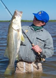 Edward Johnston caught a nice Ascension Bay Snook