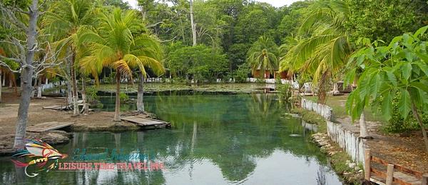 Cenote near Isla del Sabalo