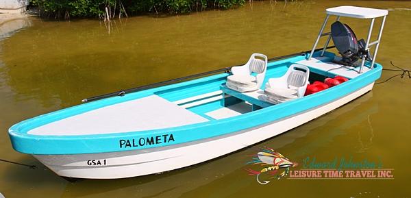 Isla Blanca Lodge panga : Cancun Fly Fishing Adventures