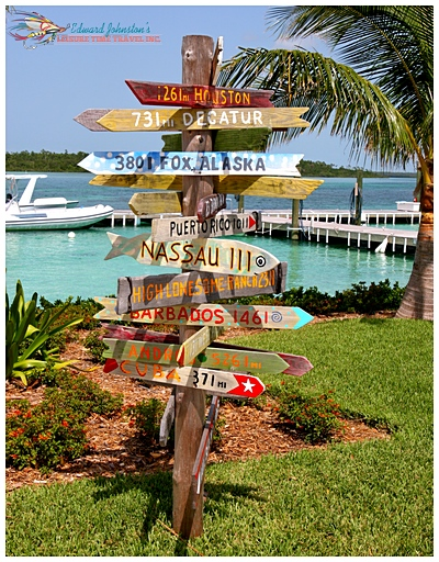 Deep Water Cay Club Directional Sign