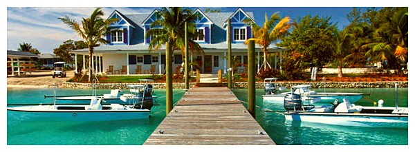 The floating Dock at Deep Water Cay Club, Fly Fishing Deep Water Cay