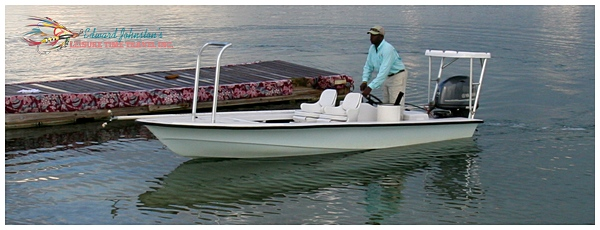 Dolphin skiff at Grand Bahama Bonefishing - Freeport Grand Bahama Island