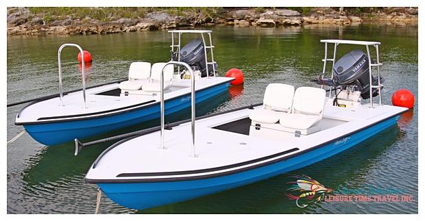 Hells Bay Waterman skiffs at Abaco Lodge : Great Abaco Island, Bonefishing Great Abaco Island