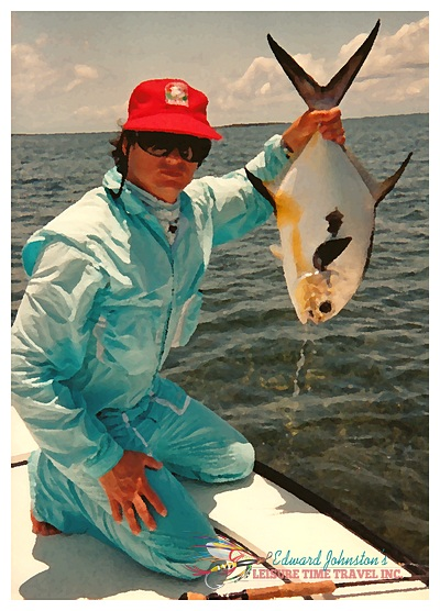 Turneffe Flats Lodge : Edward Johnston with a Turneffe permit