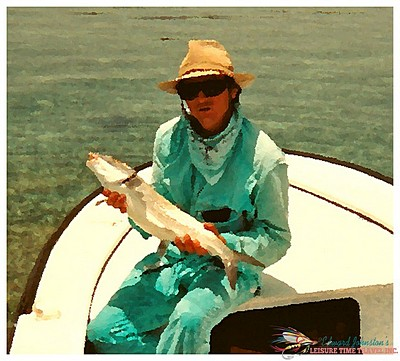 Turneffe Flats Lodge : Edward Johnston with bonefish