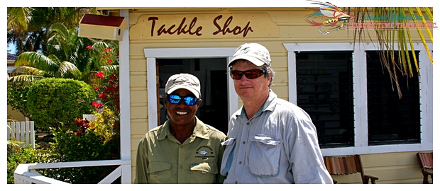 Turneffe Island Lodge : Tacu Johnson and Edward Johnston , Flats Fishing Turneffe Island