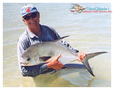 Dr. Curt Johnson's Permit : Casa Blanca Lodge, permit fishing