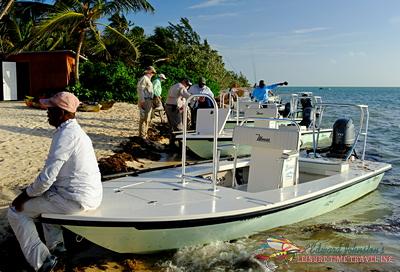 Maverick skiff at Bairs Lodge Bahamas