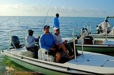Maverick skiff at Bair's Lodge Bahamas
