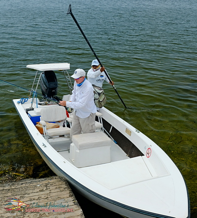 Campeche Tarpon Fishing Skiff, Campeche Tarpon Fishing Yucatan Program, Yucatan Baby Tarpon Fly Fishing