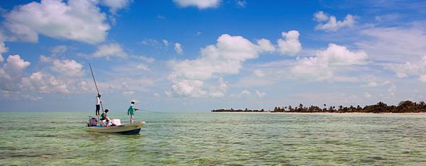 World class flats fishing at El Pescador Lodge Ambergris Caye Belize, Bonefish, Permit and Tarpon Fishing
